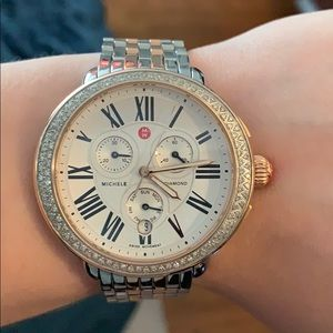 Michele Serein Diamond Two Tone Watch